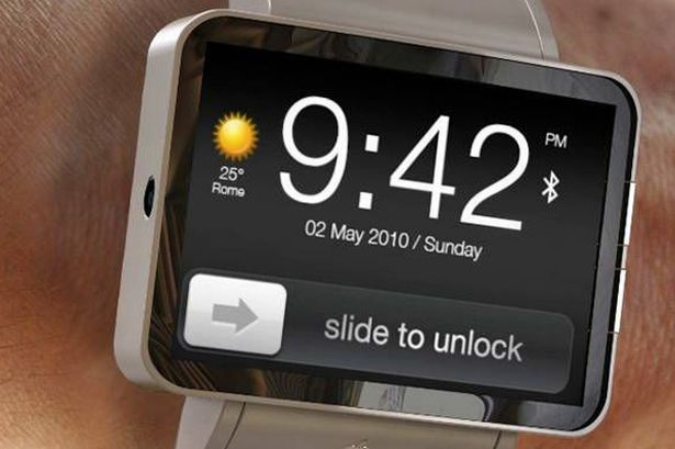 A mockup of what Apple's unlikely iWatch could look like.