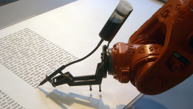 robot-writing