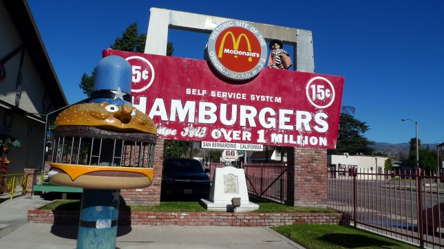 The site of the original McDonald's restaurant in San Bernardino, California.