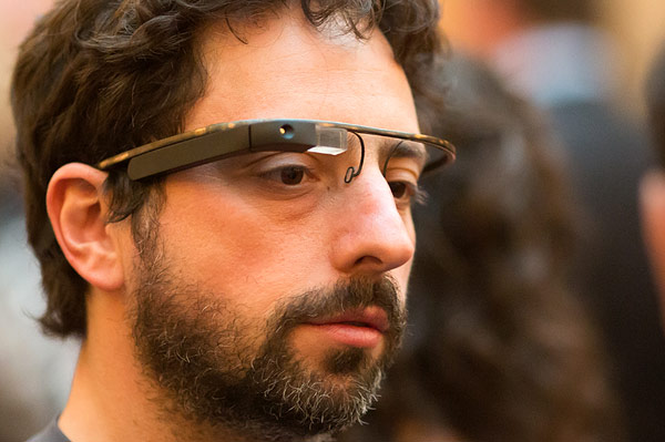 Google founder Sergey Brin and his Glass: banned all over.