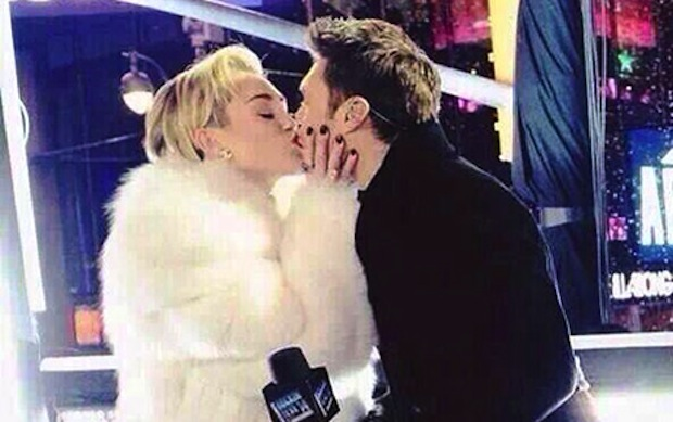 Was there really anyone who didn't believe Miley Cyrus kissed Ryan Seacrest?