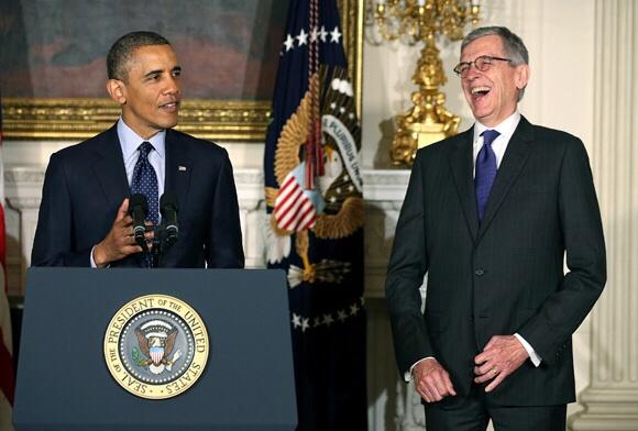 President Barack Obama and FCC head Tom Wheeler in happier times.